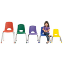 6 Pack School Stack Chairs with Chrome Legs