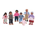 African American Doll Family Set