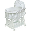 White Ruffled Bassinet with Toy Box Base