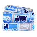 Beep, Honk, Vroom Twin Sheet Set