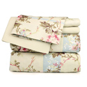 Beige Floral Printed Sheet Set