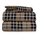 Beige Plaid Flannel Twin/Full Sheet Set