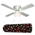 Black 'n Red Cherries Ceiling Fan