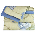 Blue Floral Printed Sheet Set
