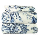Blue Leaves Flannel Twin/Full Sheet Set