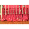 Rose Petal Tulle Crib Dust Ruffle