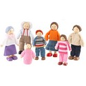 Caucasian Doll Family Set