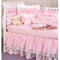 Checker & Pink Celeste Crib Bedding