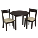 Childrens Round Table and Upholstered Seat Chair Set
