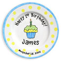 Birthday Cupcake Birth Plate
