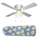 Daisy Gingham Ceiling Fan