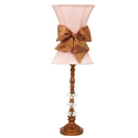 Gold Bow Glass Ball Lamp
