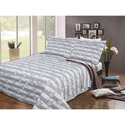 Gray Stars 3 Piece Quilt Set