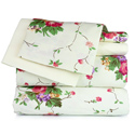 Ivory Floral Printed Sheet Set