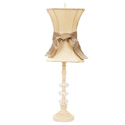 Ivory Hourglass Glass Ball Lamp
