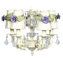 Ivory Rose Sash 5 Arm Chandelier
