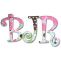 Butterflies and Ladybugs Wall Letters
