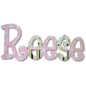 Reese's Patterns Wall Letters
