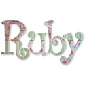Ruby's Paisley Wall Letters