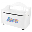 Personalized Limited Edition White Toy Box