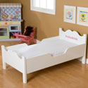 Personalized Scalloped Toddler Bed