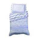 Lavender Lace and Chevron Toddler Bedding