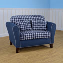 Linked Navy Tween Loveseat