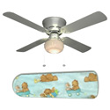 Little Boys Teddy Bear and Puppy Wagon Ceiling Fan