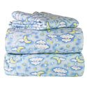 Moon and Stars Flannel Twin/Full Sheet Set