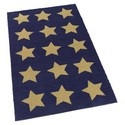 Multi Star Khaki Kids Rug
