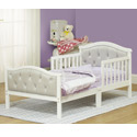 Gray Padded Toddler Bed