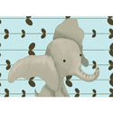 Edison the Elephant Canvas Wall Art