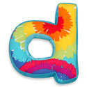 Terrific Tie Dye Letter Pillow