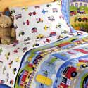 Trains, Planes And Trucks Toddler Bedding