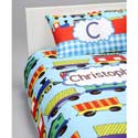 Personalized Train Toddler Bedding Set