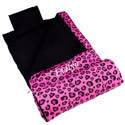 Personalized Pink Leopard Sleeping Bag