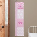 Personalized Pink Polka Dot Growth Chart