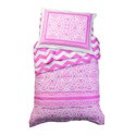 Pink Lace and Chevron Toddler Bedding