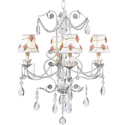Pink Net Flower 4 Arm Valentino Chandelier