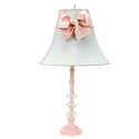 Pink Sash Glass Ball Lamp
