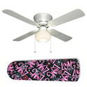 Pink 'n Black Girly Love Ceiling Fan