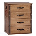 Pirate Four Drawer Dresser