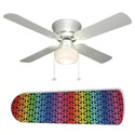 Rainbow Peace Signs Ceiling Fan