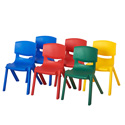 Resin School Stack Chairs Pack of 6, Seat Height 10