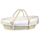 Moses Basket with White Pique Bumper
