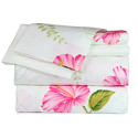 White Floral Printed Sheet Set