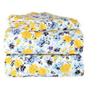 Yellow Floral Flannel Twin/Full Sheet Set