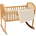 Organic Cotton Velour Cradle Bedding Set