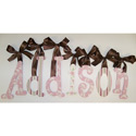 Addison's Pink Candy Glitter Wall Letters