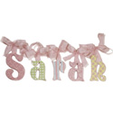 Sarah Glitter Wall Letters